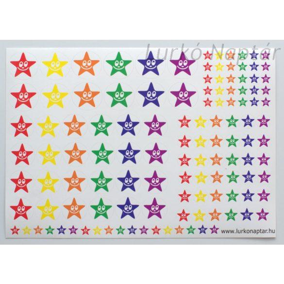 Jutalom csillag matrica